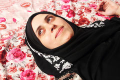 Happy arab muslim woman Stock Photo