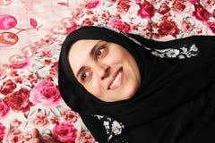 Happy arab muslim woman royalty free stock photography