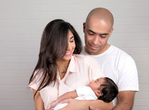 Happy arabic family at home Royalty Free Stock Photography