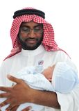 Happy Arabic Father Stock Image