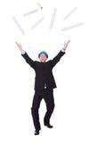 Happy Architect Celebrating Stock Photography
