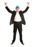 Happy architect celebrating success Stock Photography