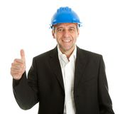 Happy architect celebrating success Royalty Free Stock Images