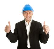 Happy architect celebrating success Royalty Free Stock Photo
