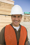Happy Architect At Construction Site Royalty Free Stock Photography