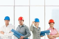 Happy architect team Royalty Free Stock Photo