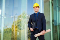 Happy architect at work Stock Photography