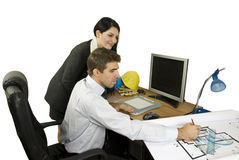 Happy architects team in office Stock Photography
