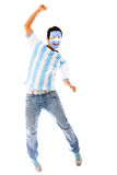 Happy Argentinean man Stock Photos