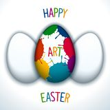 Happy art easter Stock Images
