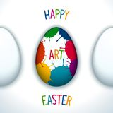 Happy art easter Royalty Free Stock Images