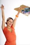 Happy artist Stock Photos