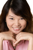 Happy Asian beautiful woman Stock Photos