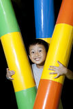 Happy asian boy playing in playground Royalty Free Stock Photos