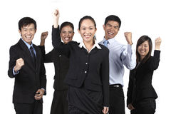 Happy Asian Business Team Royalty Free Stock Photos