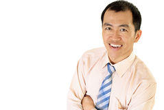 Happy Asian businessman smile Royalty Free Stock Photo