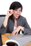 Happy Asian businesswoman Stock Image