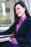 Happy Asian businesswoman Royalty Free Stock Photos