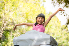 Happy Asian chidren playing at playground. Outdoor Stock Photography