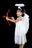 Happy Asian Chinese Little Angel WIth Bow And Arrow Stock Photography