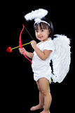 Happy Asian Chinese Little Angel WIth Bow And Arrow Royalty Free Stock Images