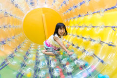 Free Happy Asian Chinese Little Girl Playing Roller Wheel Royalty Free Stock Photos - 79205668