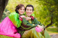 Happy asian couple Stock Image