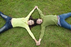 Happy asian couple royalty free stock photography