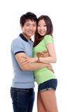Happy Asian couple Royalty Free Stock Photography