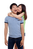 Happy Asian couple Stock Images