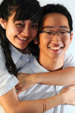 Happy asian couple. A loving average looking asian couple Stock Photo