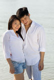 Happy Asian couple together Stock Photos