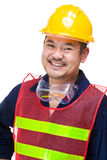 Happy asian engineer Royalty Free Stock Images