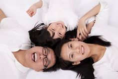 Happy asian family Stock Images