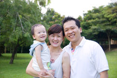 Happy asian family Stock Photos