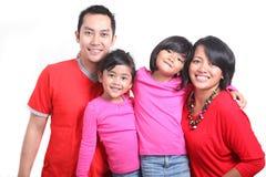 Happy Asian Family Stock Image
