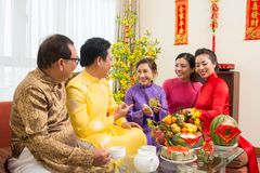 Celebrating Chinese New Year stock photo