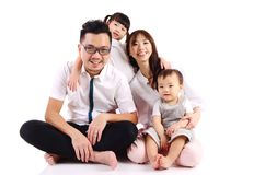 Happy Asian family. Indoor portrait of a happy asian family stock image