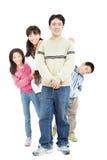 Happy asian family isolated on white Royalty Free Stock Photo
