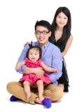 Happy asian family Stock Photos