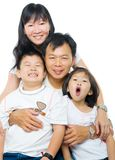 Happy Asian family portrait royalty free stock photos