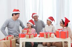 Happy Asian Family. royalty free stock image