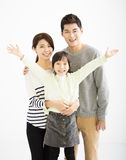 Happy asian family standing together Stock Images