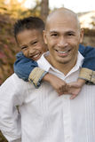 Happy Asian father and his little boy. Stock Photography