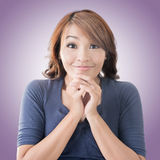 Happy Asian girl face Stock Photos