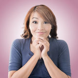 Happy Asian girl face Stock Photo