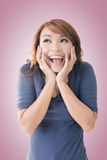 Happy Asian girl face Stock Images