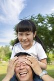 Happy asian girl with father Royalty Free Stock Images