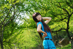 Happy asian girl smiling Royalty Free Stock Photography
