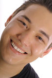 Happy asian guy angle Stock Image